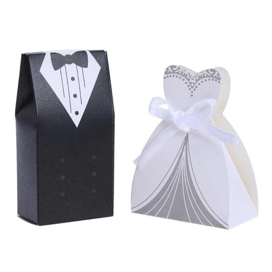 Geschenk doosjes / Cadeau doosjes - 50 stuks - Bruid & Bruidegom-1