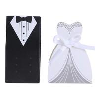 thumb-Geschenk doosjes / Cadeau doosjes - 50 stuks - Bruid & Bruidegom-10