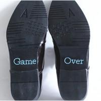 thumb-PaCaZa - SALE - 'Game Over' Sticker - Aqua Blauw-1