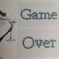 thumb-PaCaZa - SALE - 'Game Over' Sticker - Aqua Blauw-2
