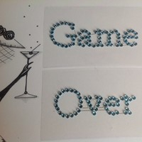 thumb-SALE - 'Game Over' Sticker - Aqua Blauw-2