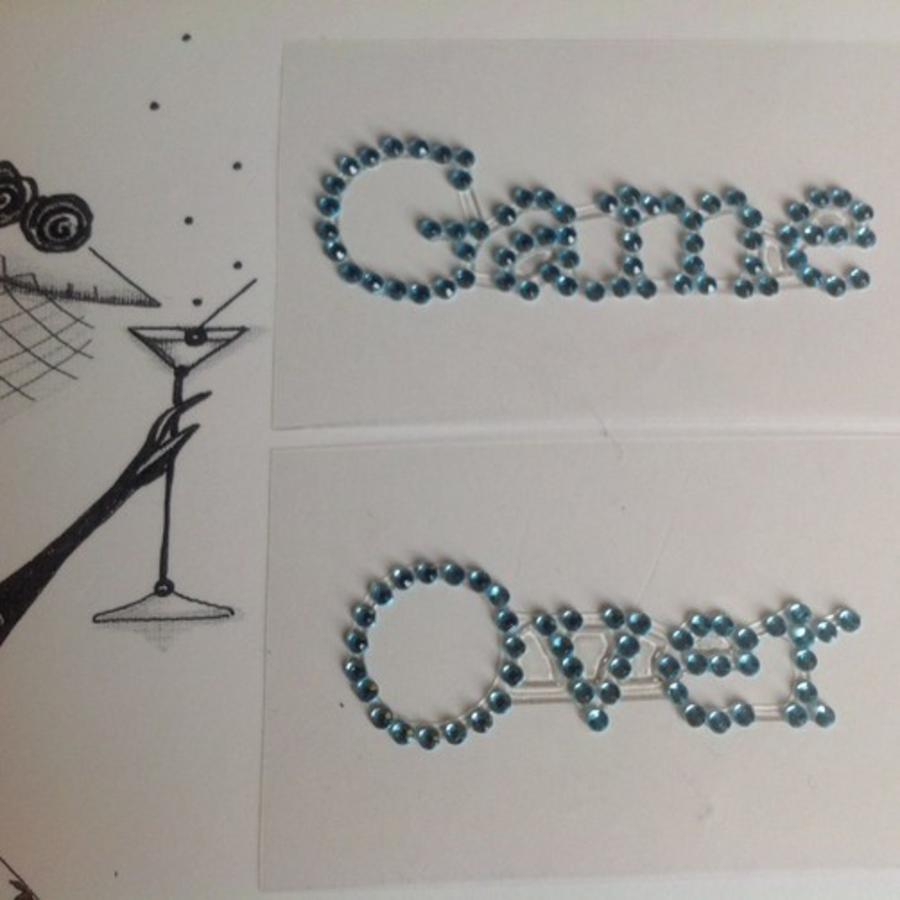 SALE - 'Game Over' Sticker - Aqua Blauw-2
