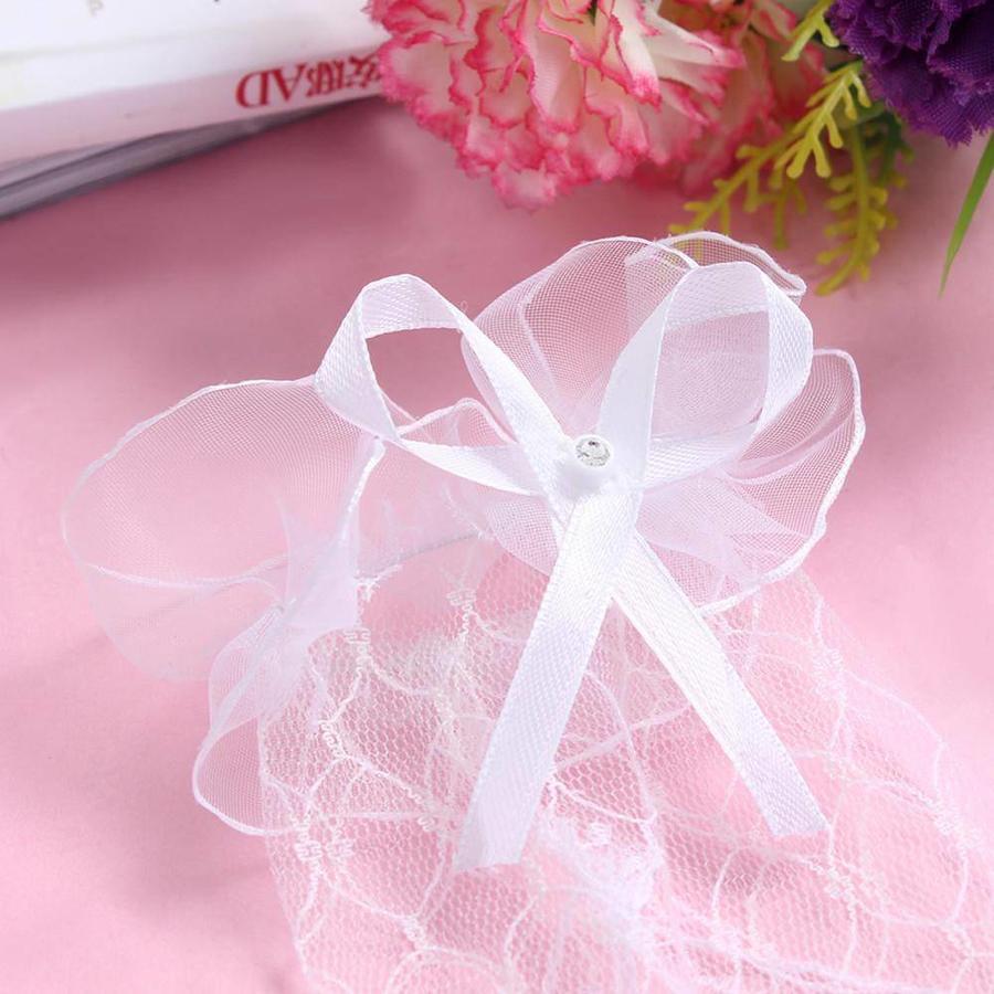 Prachtige Ivoorkleurige Bruidshandschoenen-4