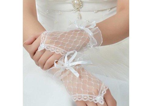 Prachtige Ivoorkleurige Bruidshandschoenen