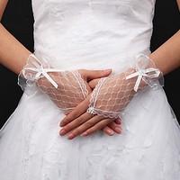 thumb-Prachtige Ivoorkleurige Bruidshandschoenen-2