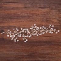 thumb-Zilverkleurig Haar Sieraad  met Kraaltjes-4