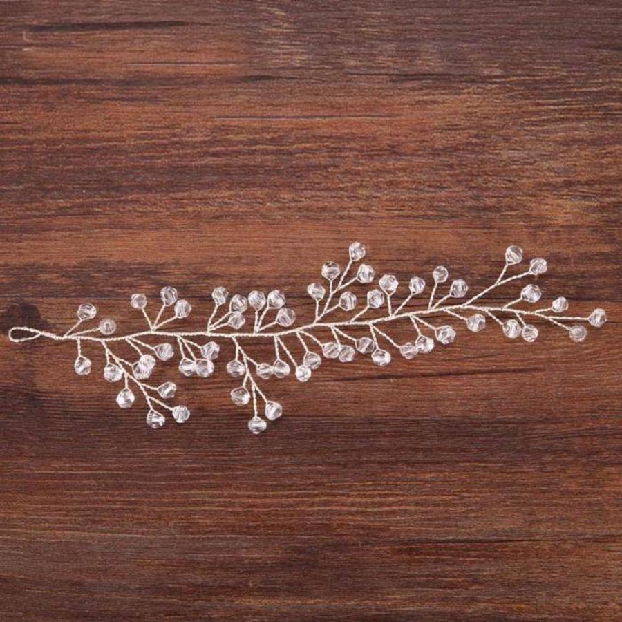 Zilverkleurig Haar Sieraad  met Kraaltjes-4