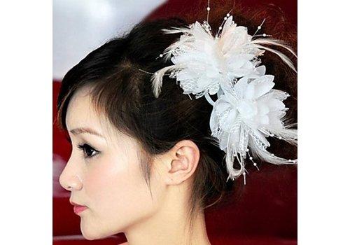 SALE - Prachtige Witte Bloem voor in je Haar