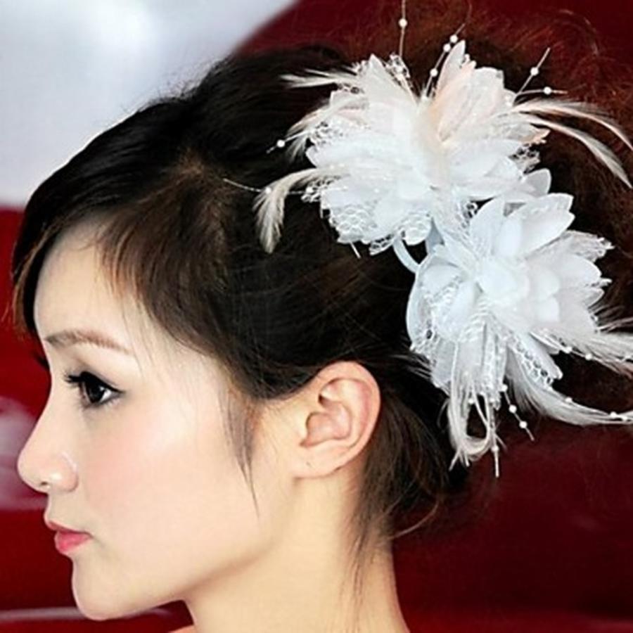 Prachtige Witte Bloem voor in je Haar-1