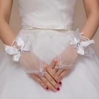 thumb-Ivoorkleurige Bruidshandschoenen  met Hartje-2