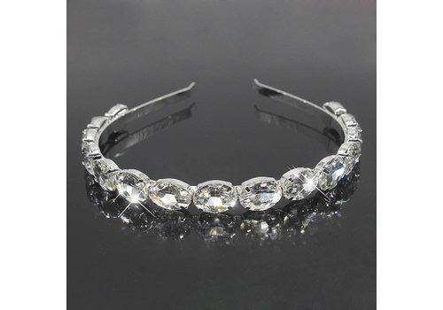 Stijlvolle Diadeem - Tiara met Grote Kristallen