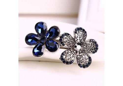 Schattige Bloemen Haarclip - Blauw