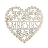 thumb-Houten Hart  - Mr & Mrs -  Decoratie - Bruiloft-5