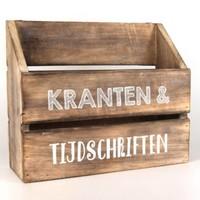 thumb-Houten Krantenbak 32x25cm - Kleur Naturel-1
