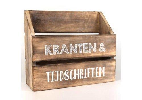 Houten Krantenbak 32 x 25 cm - Kleur Naturel