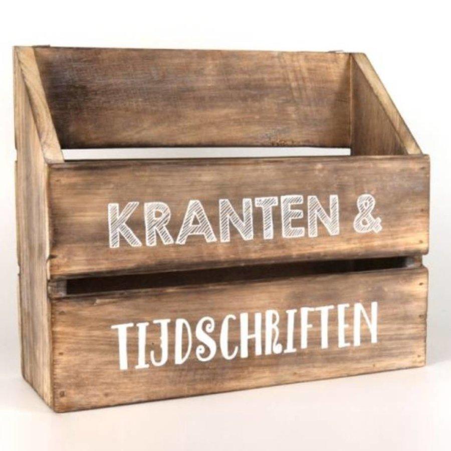 BonTon - Houten Krantenbak 32 x 25 cm - Kleur Naturel-1