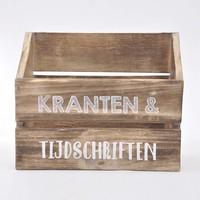 thumb-Houten Krantenbak 32x25cm - Kleur Naturel-2