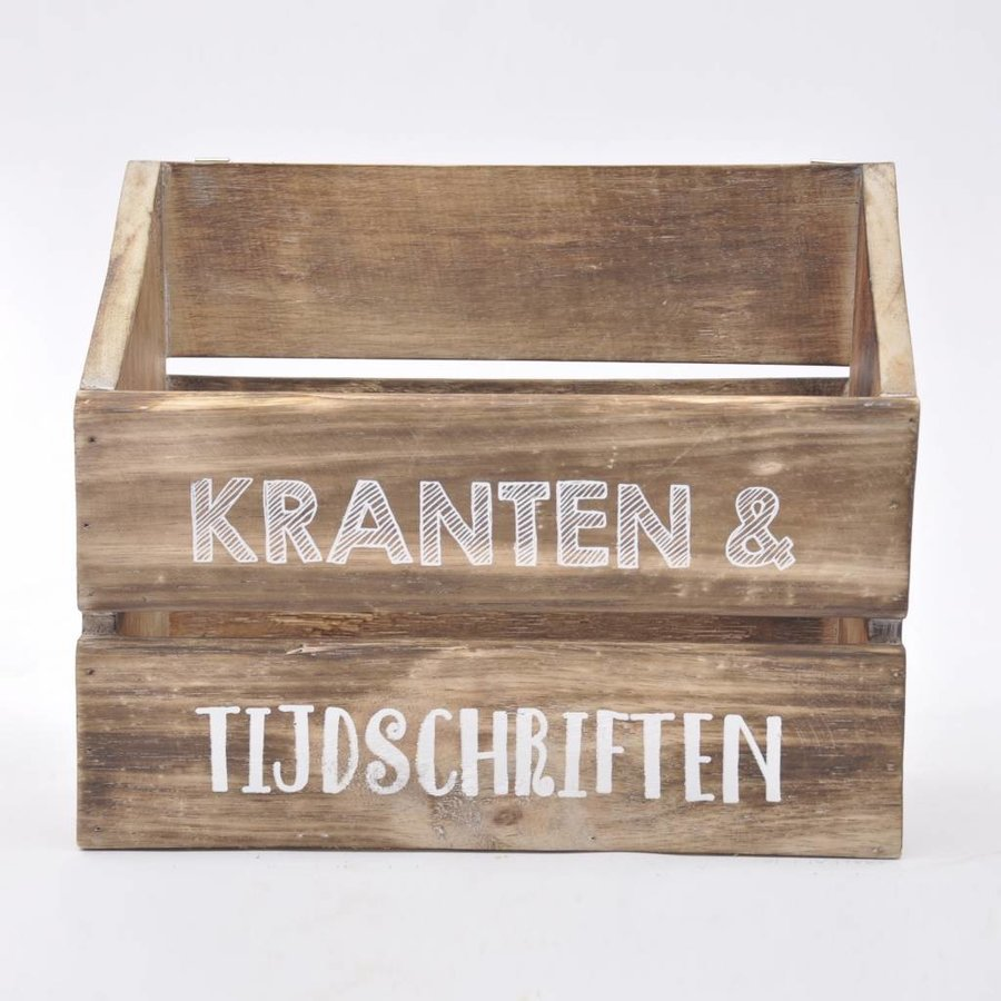 Houten Krantenbak 32x25cm - Kleur Naturel-2