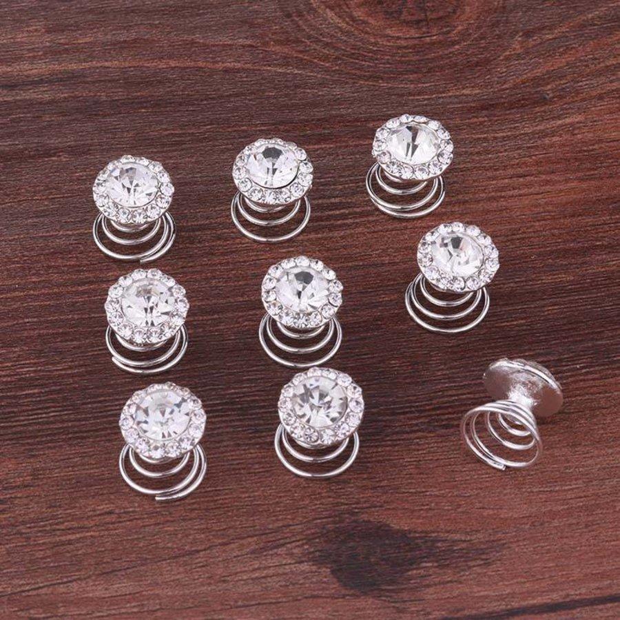 Big Crystal Curlies met Kristallen - 6 stuks-2