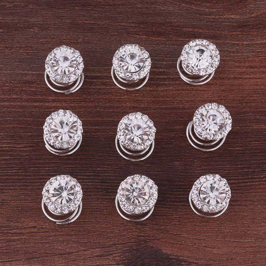 Big Crystal Curlies met Kristallen - 6 stuks-5