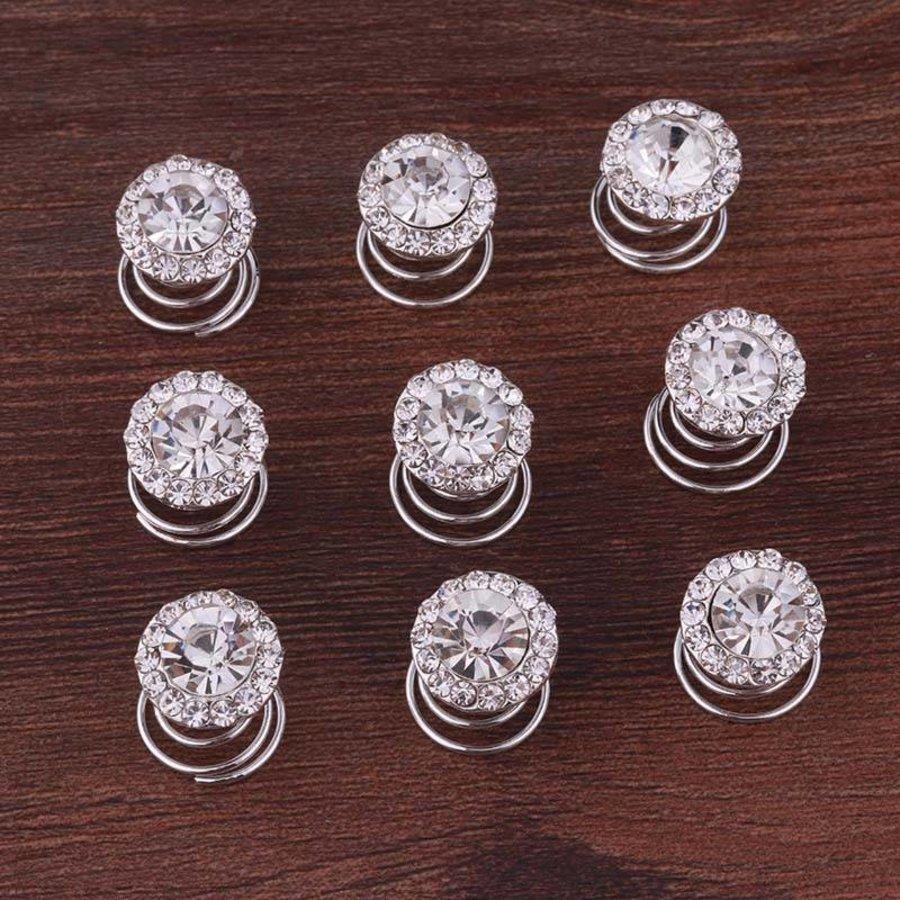 Big Crystal Curlies met Kristallen - 6 stuks-7