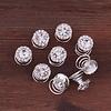 PaCaZa Big Crystal Curlies met Kristallen - 6 stuks