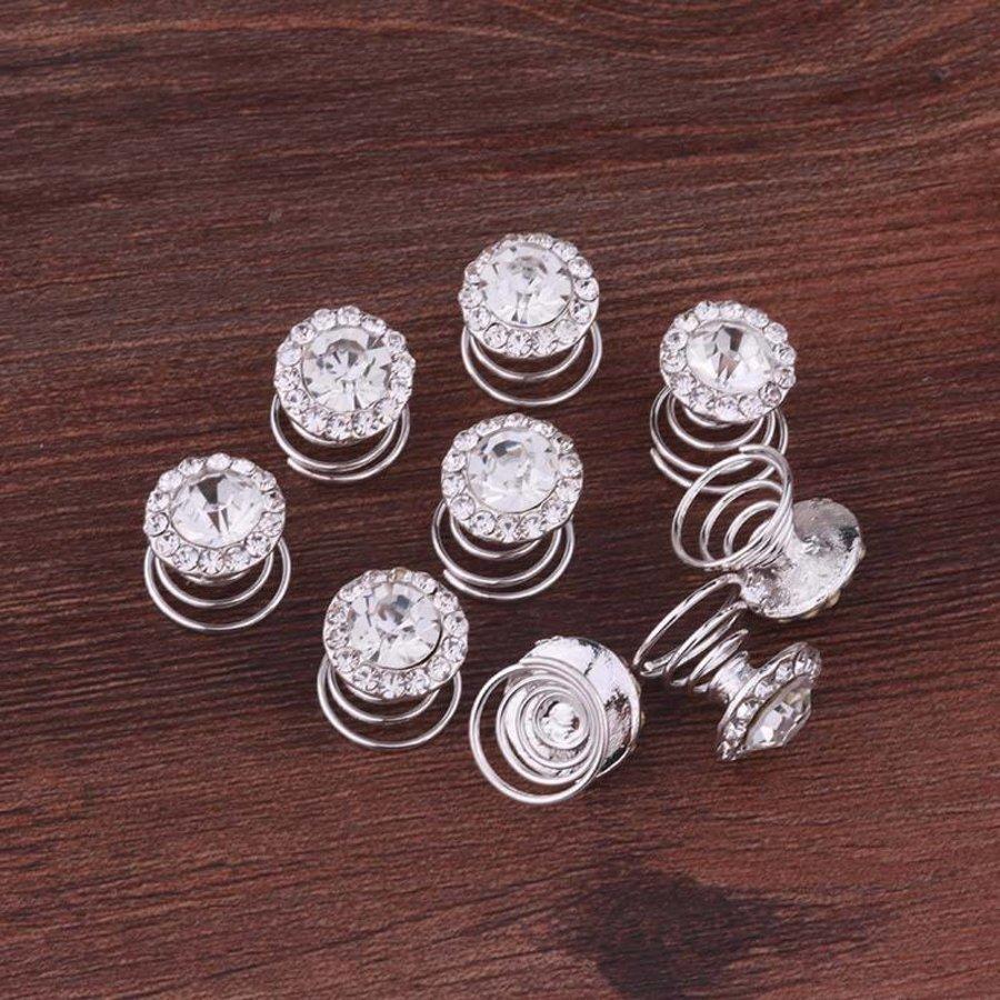 Big Crystal Curlies met Kristallen - 6 stuks-6