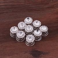 thumb-Big Crystal Curlies met Kristallen - 6 stuks-3