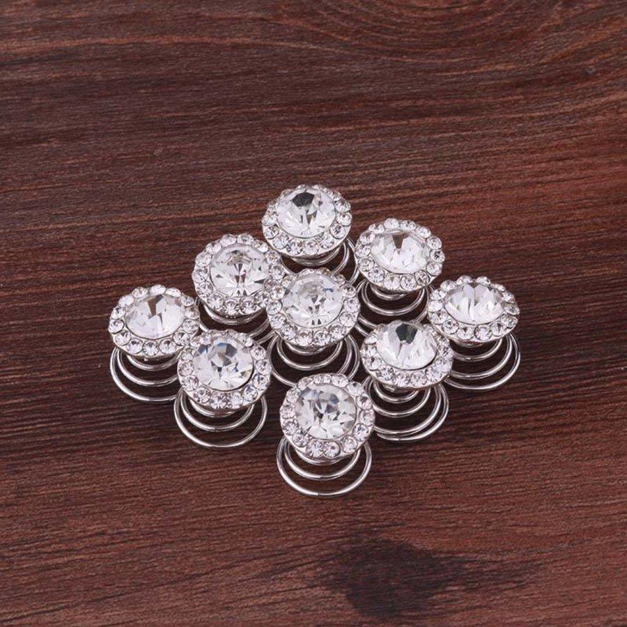 Big Crystal Curlies met Kristallen - 6 stuks-3