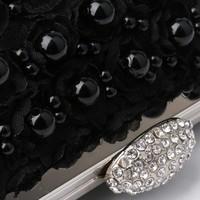 thumb-Elegant Zwart Bruidstasje met Parels - Clutch-2