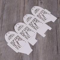 thumb-Geschenk doosjes / Cadeau doosjes - 50 stuks - Bruidspaar -  Wit-4