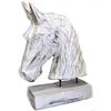 BonTon Houten Paardenhoofd 29x22cm - Kleur Antique White
