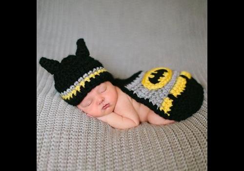 Gehaakt Setje Batman - Newborn