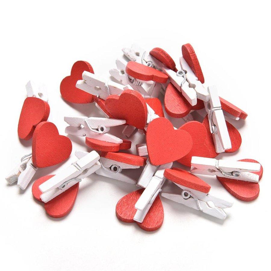 Knijpertjes Hart - Rood -  50 stuks --6