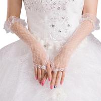 thumb-Prachtige Bruidshandschoenen - Wit-1