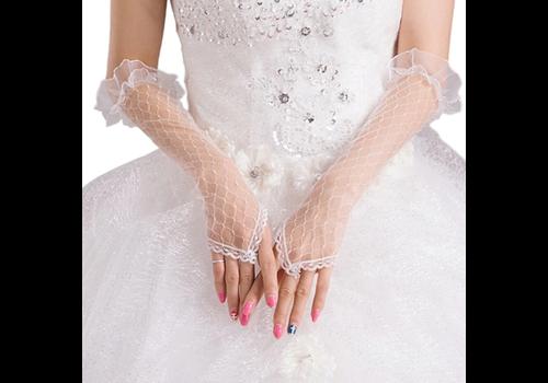 Prachtige Bruidshandschoenen - Wit