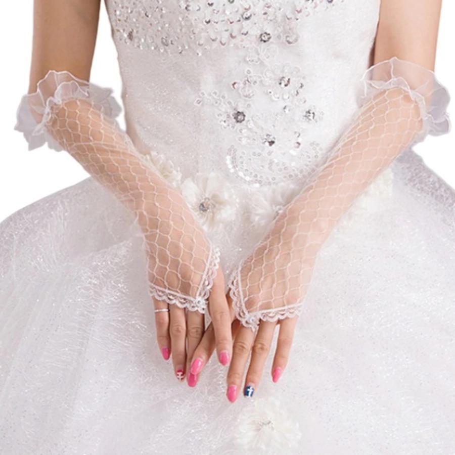 Prachtige Bruidshandschoenen - Wit-1