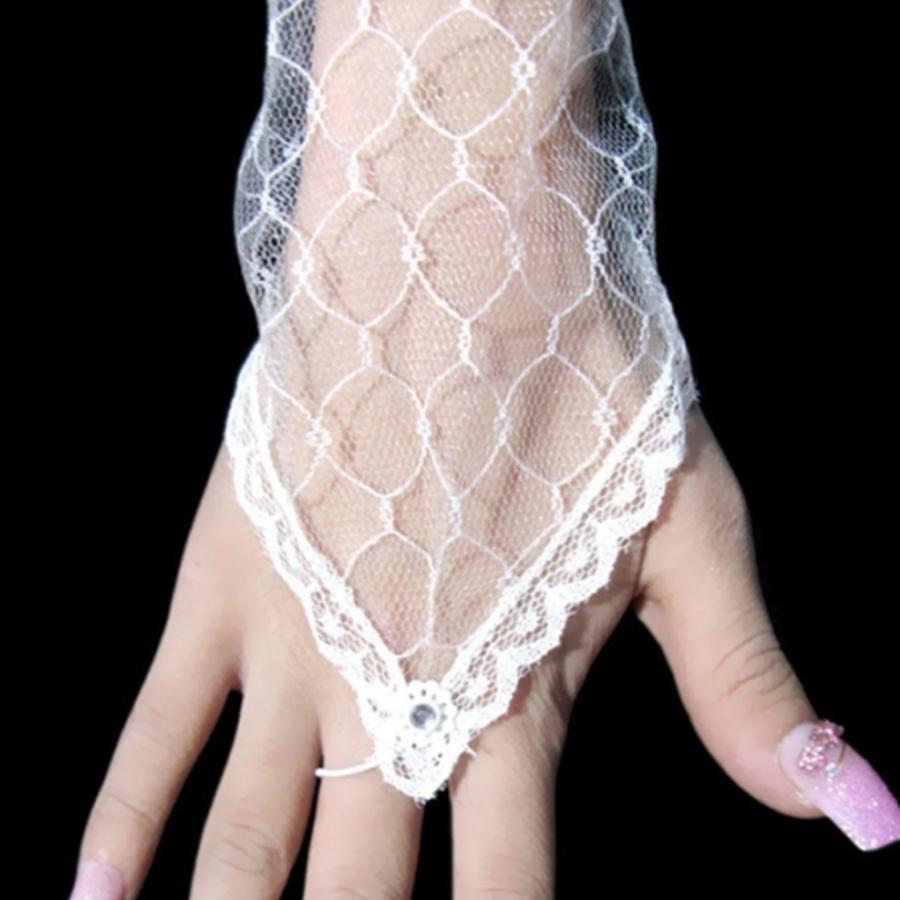 Prachtige Bruidshandschoenen - Wit-2