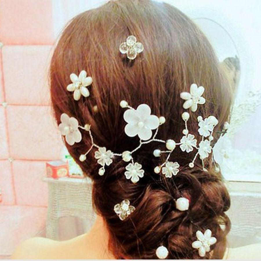 Stijlvol Haar Sieraad met Bloemetjes-2