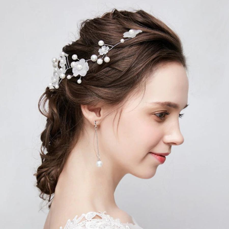 Stijlvol Haar Sieraad met Bloemetjes-1