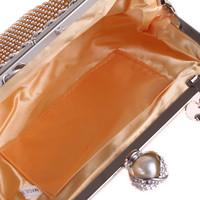 thumb-Elegant Bruidstasje - Clutch - Goud met Fonkelende Diamanten-7