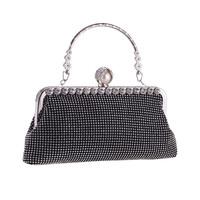 thumb-Elegant Bruidstasje - Clutch - Zwart met Fonkelende Diamanten-5