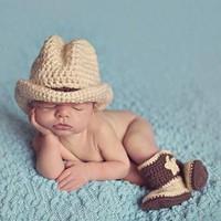 thumb-Gehaakt Setje Cowboy - Newborn-3