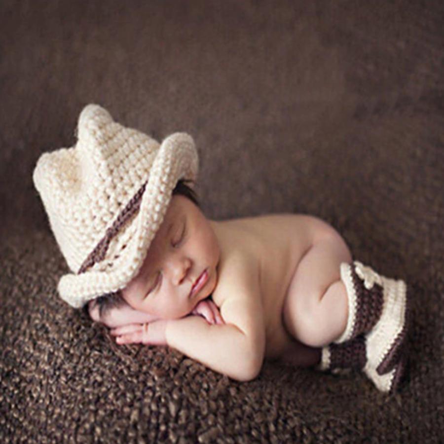 Gehaakt Setje Cowboy - Newborn-1