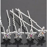 Hairpins – Bloemetje Kristal - 4 stuks