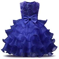 thumb-Communiejurk / Bruidsmeisjesjurk - Suzy - Donker Blauw - Maat 104/110-3