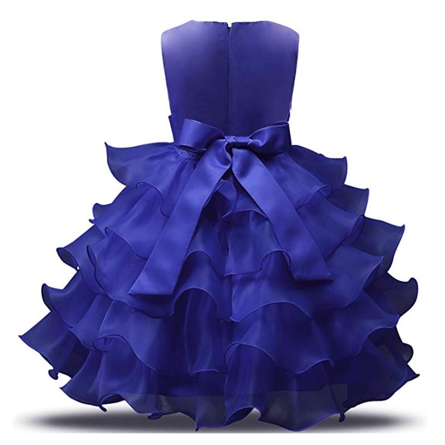 Communiejurk / Bruidsmeisjesjurk - Suzy - Donker Blauw - Maat 104/110-2