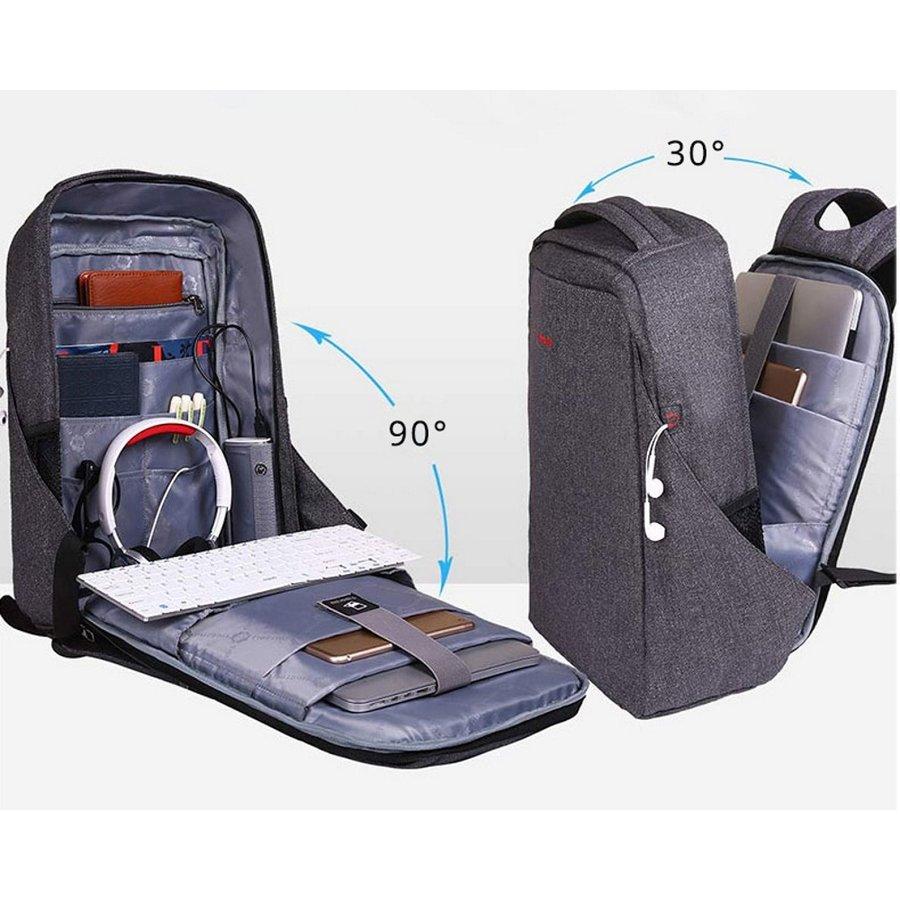 Anti-Diefstal Laptop rugzak 12,5 tot 16 inch - Grey - T-B3237-7