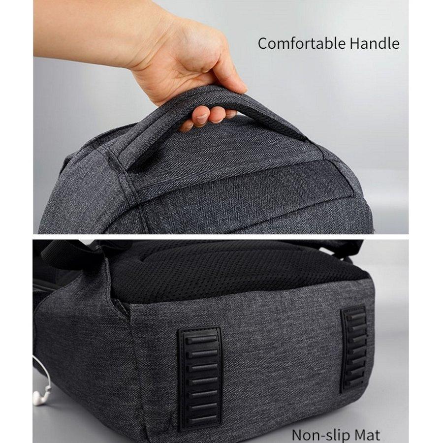 Anti-Diefstal Laptop rugzak 12,5 tot 16 inch - Grey - T-B3237-8