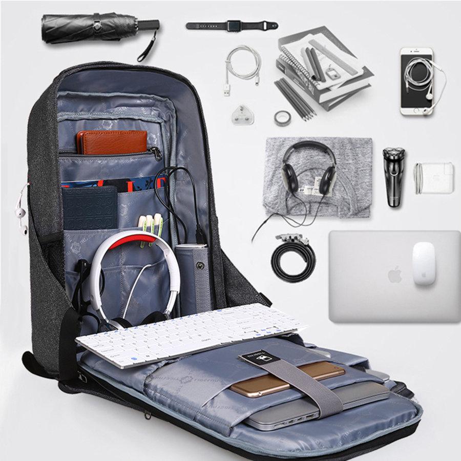 Anti-Diefstal Laptop rugzak 12,5 tot 16 inch - Grey - T-B3237-9